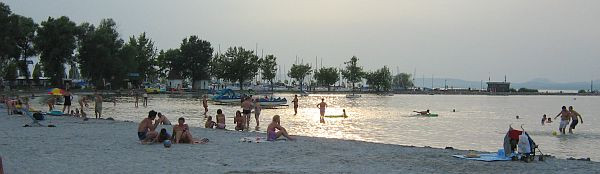 Sandstrand in Balatonlelle